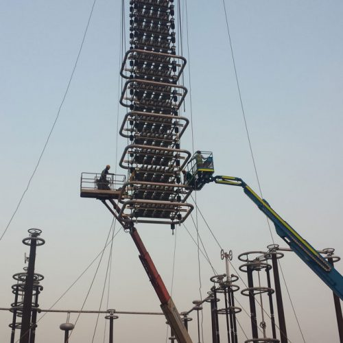 Supervision of 800kv DC Filter Erection